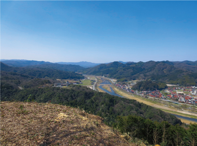 富田城から望む奥出雲