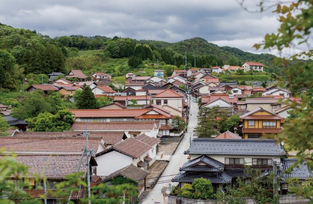 吉田の街並み